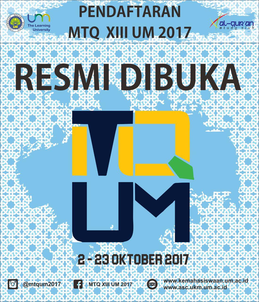 MTQ UM XIII 2017